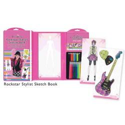 Rock Star Stylist Sketch Book - Libro para diseños estilo RockStar