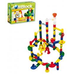 Laberinto Rolliblock 102 pzas (92 pzas plástico + 10 canicas)