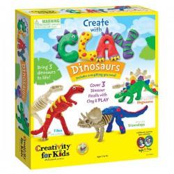 Dinosaurios de plastilina