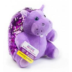 Hipopotamo Mini (Peluche de lentejuela)
